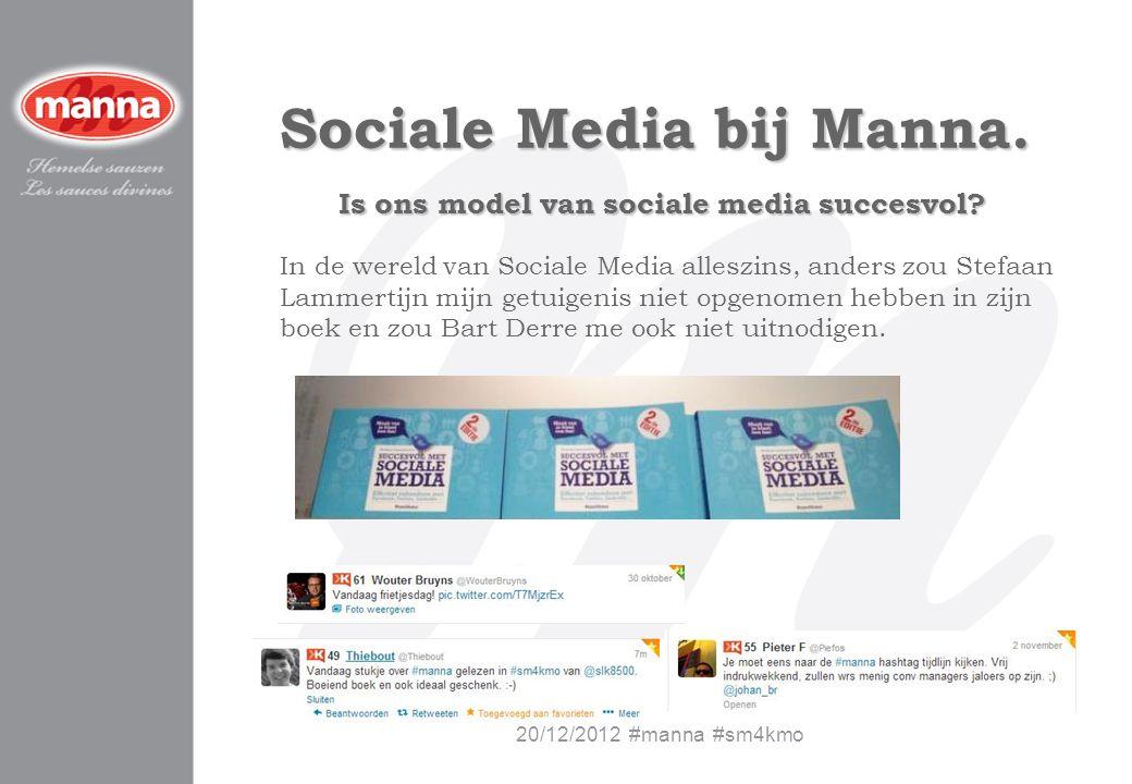 Sociale Media bij Manna. Is ons model van sociale media succesvol