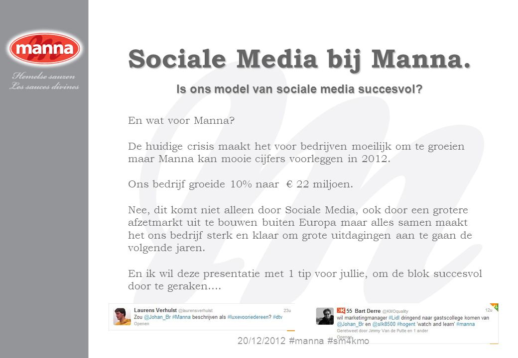 Sociale Media bij Manna. Is ons model van sociale media succesvol