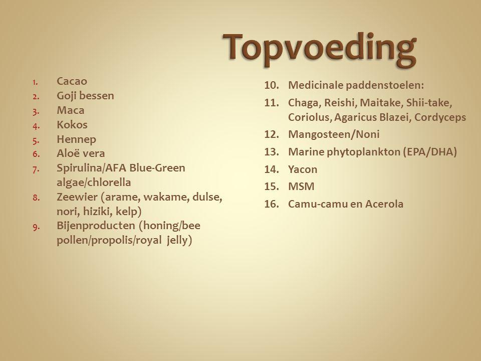 Topvoeding Cacao Medicinale paddenstoelen: Goji bessen