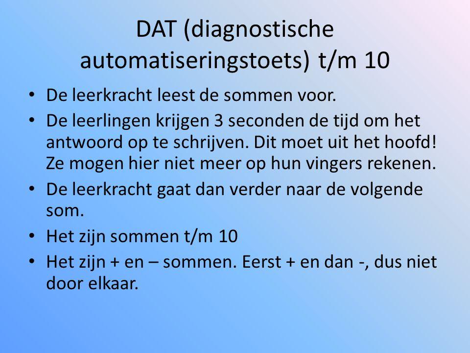 DAT (diagnostische automatiseringstoets) t/m 10