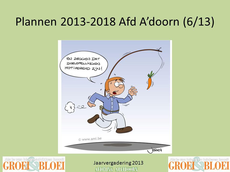 Plannen 2013-2018 Afd A'doorn (6/13)
