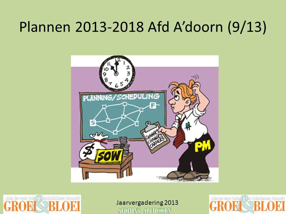 Plannen 2013-2018 Afd A'doorn (9/13)