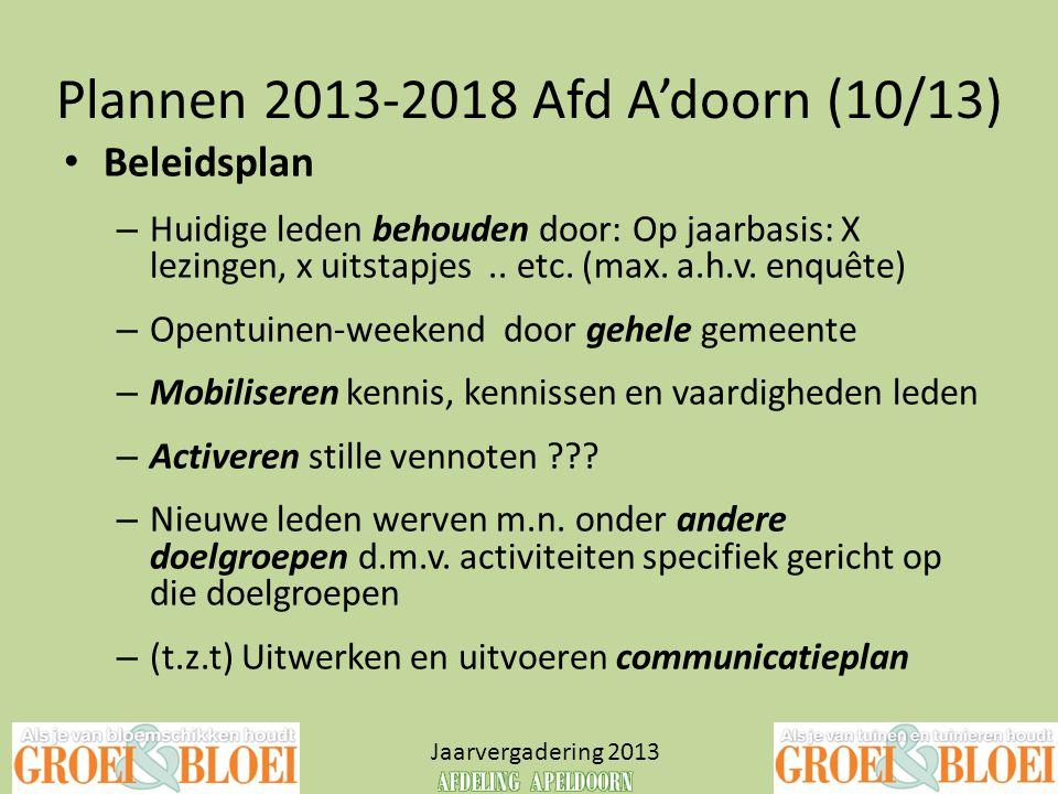 Plannen 2013-2018 Afd A'doorn (10/13)