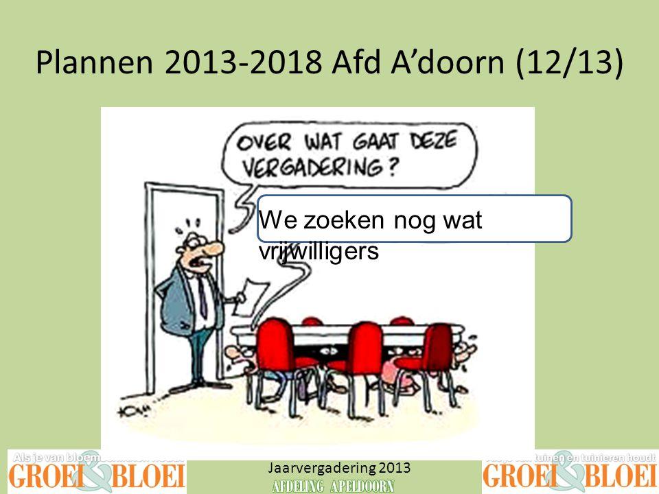 Plannen 2013-2018 Afd A'doorn (12/13)