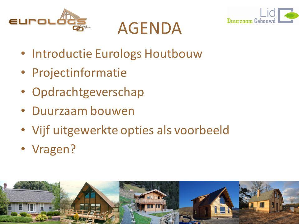 AGENDA Introductie Eurologs Houtbouw Projectinformatie