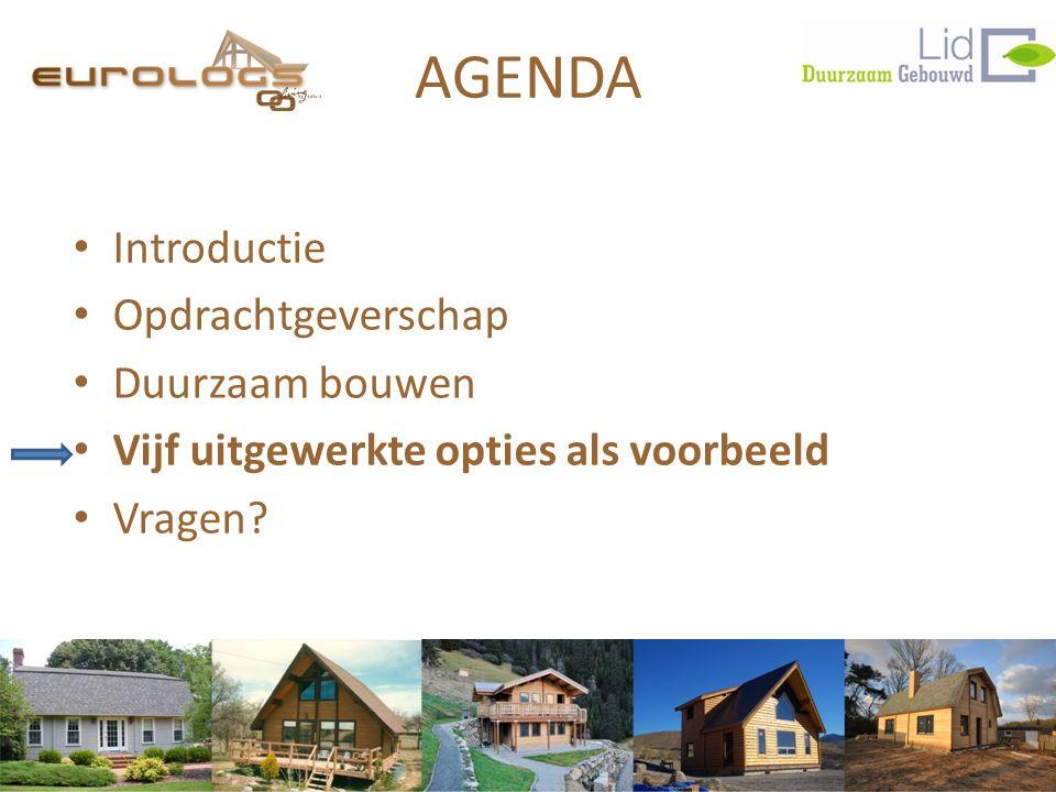 AGENDA Introductie Opdrachtgeverschap Duurzaam bouwen