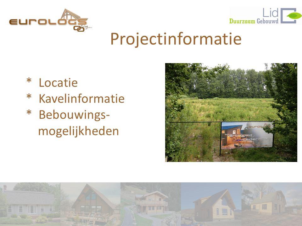 Projectinformatie * Locatie * Kavelinformatie