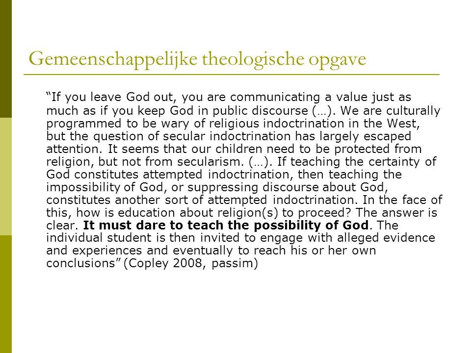 Gemeenschappelijke theologische opgave