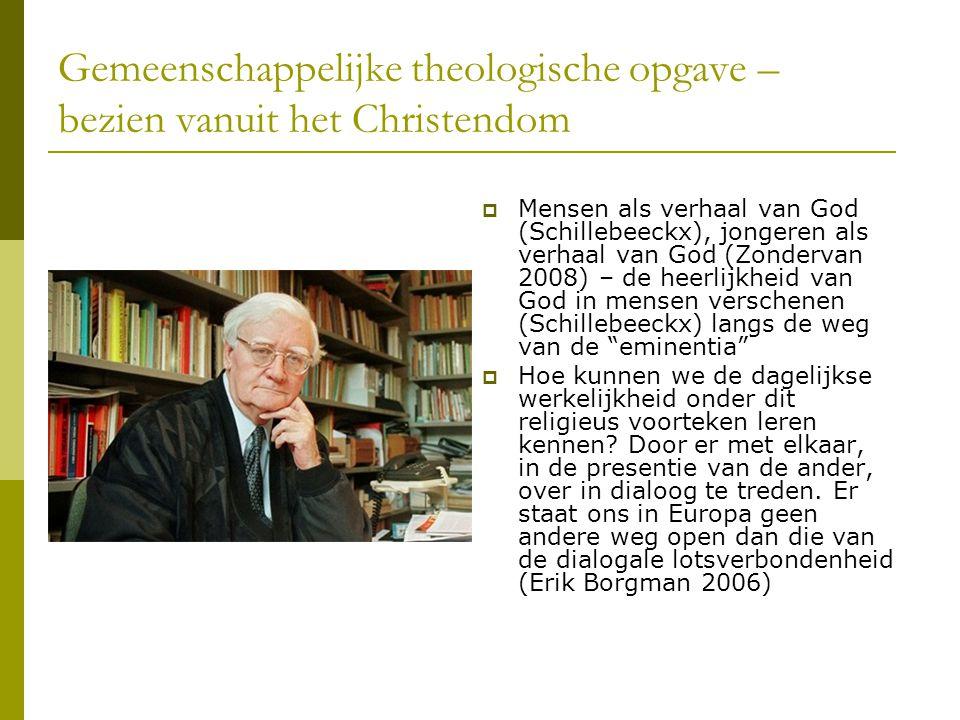 Gemeenschappelijke theologische opgave – bezien vanuit het Christendom