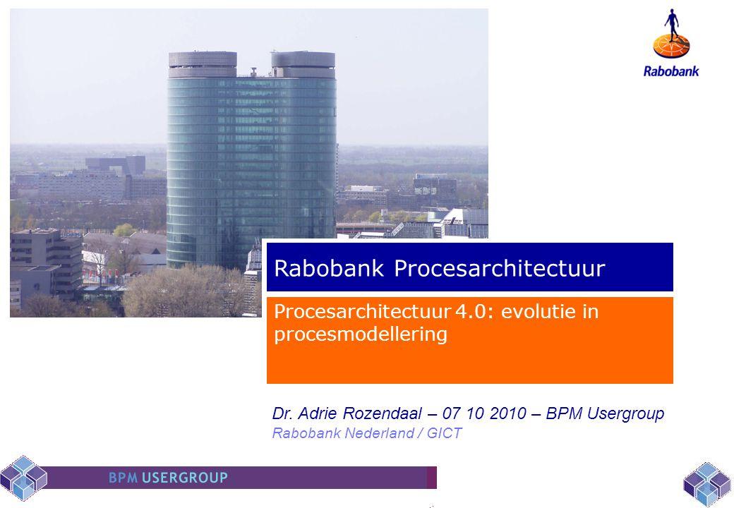 Rabobank Procesarchitectuur