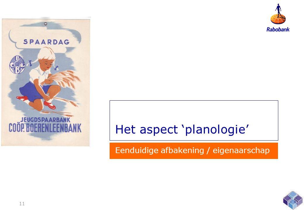 Het aspect 'planologie'