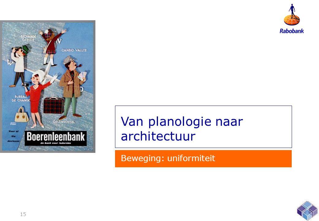 Van planologie naar architectuur