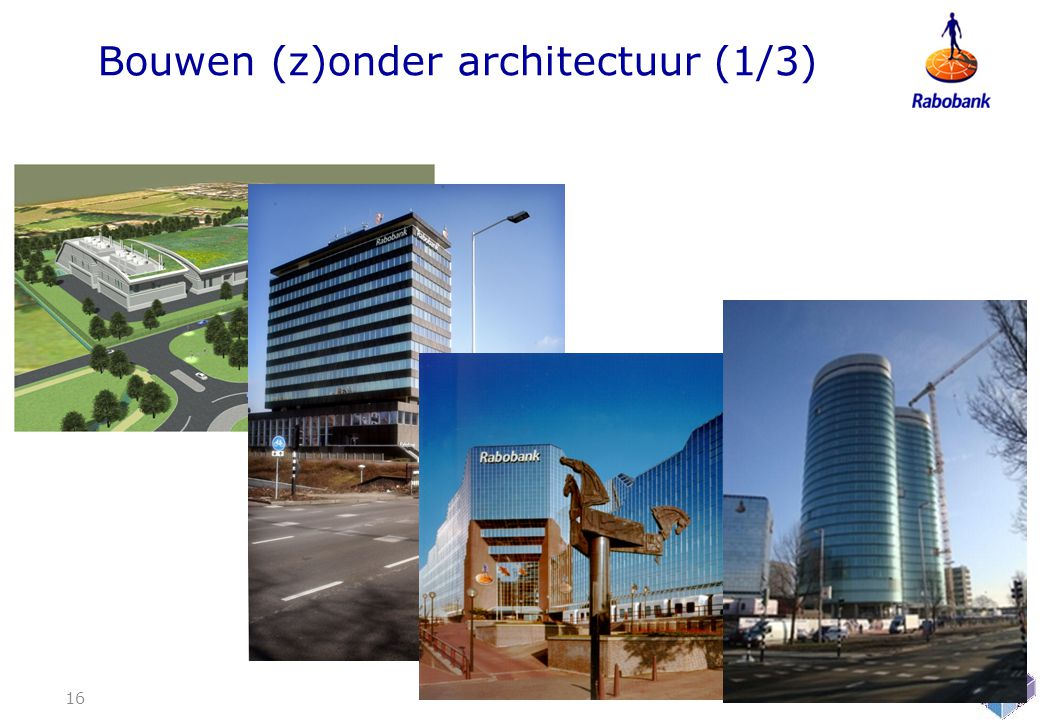 Bouwen (z)onder architectuur (1/3)