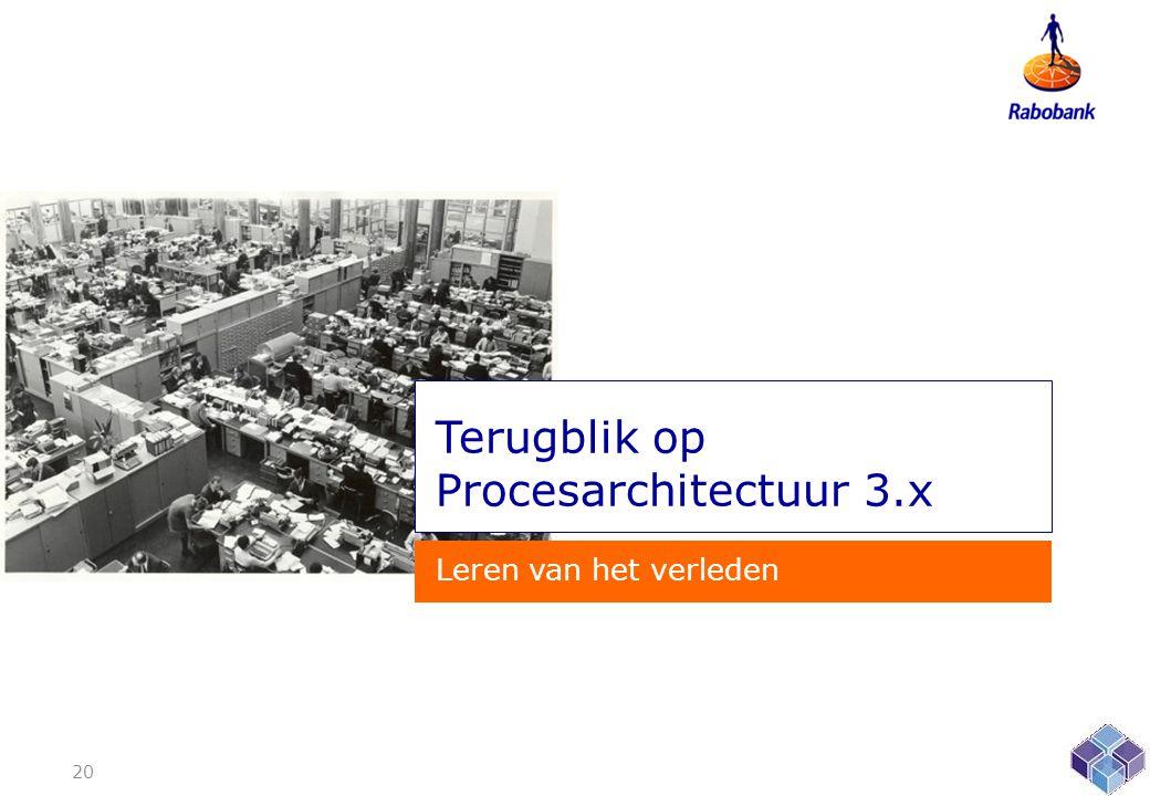 Terugblik op Procesarchitectuur 3.x