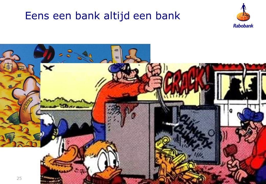 Eens een bank altijd een bank