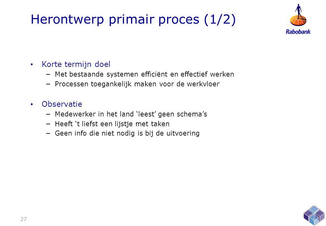 Herontwerp primair proces (1/2)