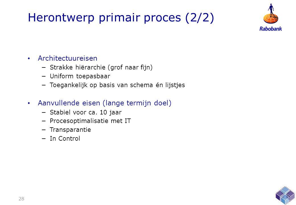 Herontwerp primair proces (2/2)