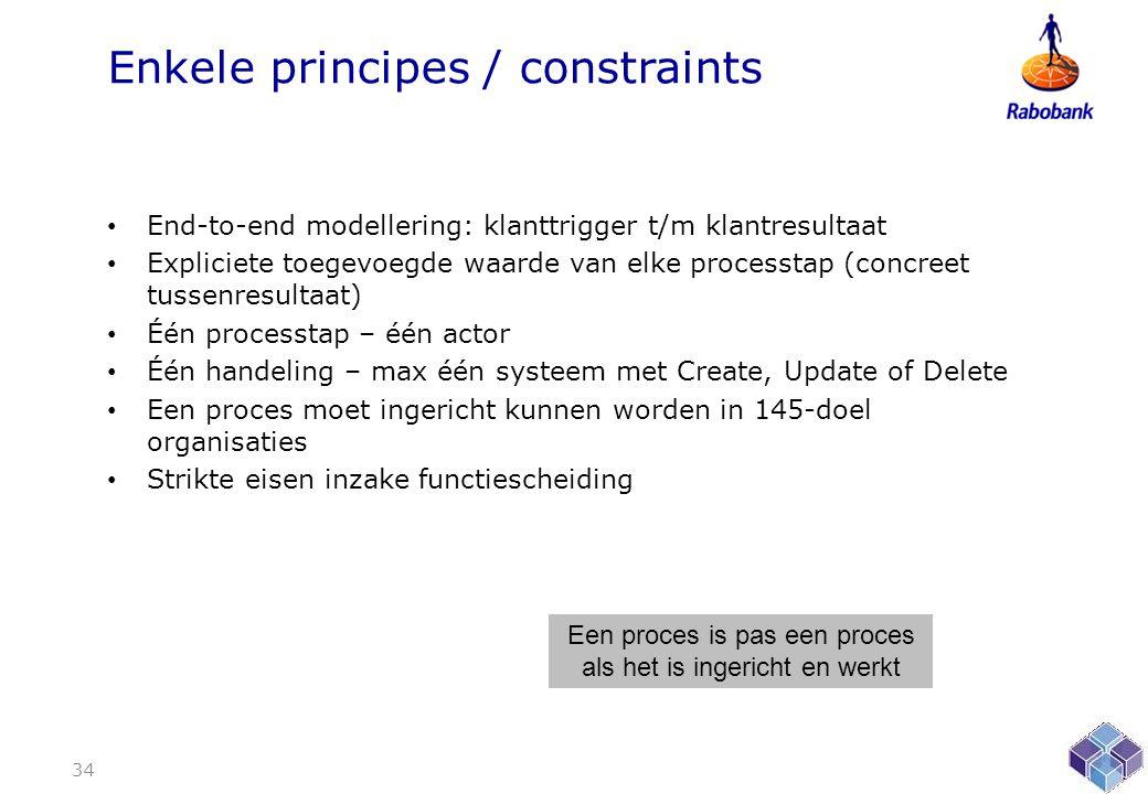 Enkele principes / constraints