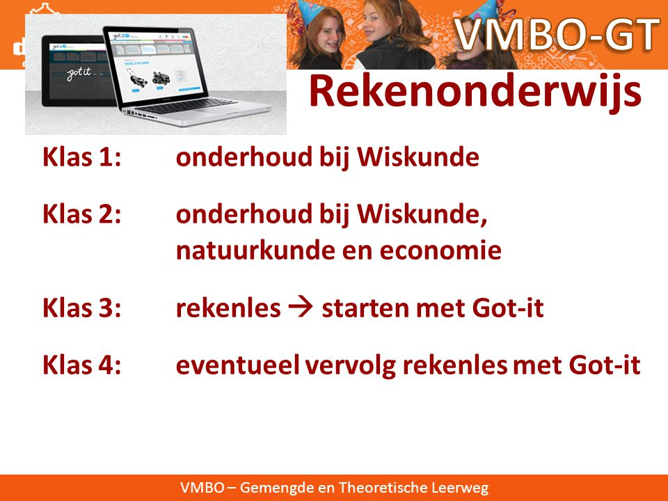 VMBO-GT Rekenonderwijs