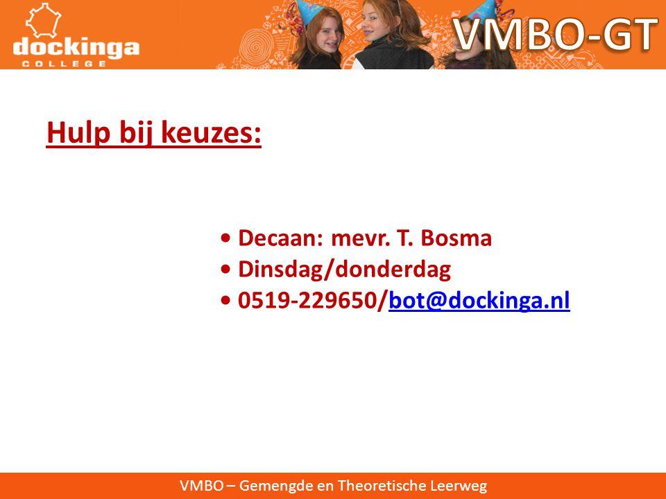 VMBO-GT Hulp bij keuzes: