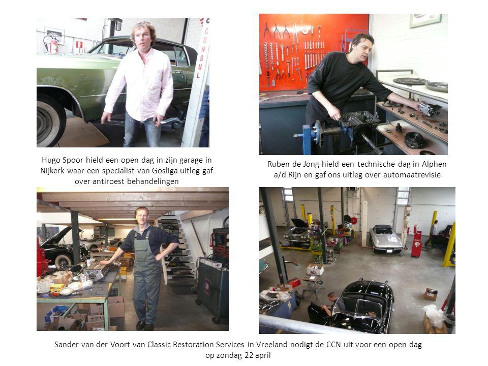Hugo Spoor hield een open dag in zijn garage in Nijkerk waar een specialist van Gosliga uitleg gaf over antiroest behandelingen
