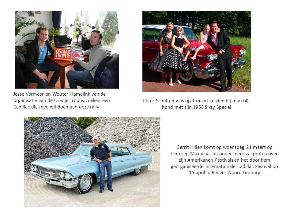 Jesse Vermeer en Wouter Hamelink van de organisatie van de Oranje Trophy zoeken een Cadillac die mee wil doen aan deze rally