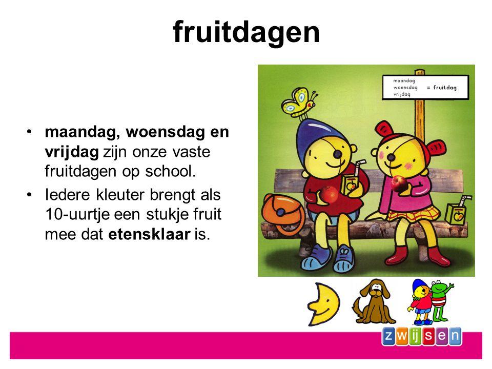 fruitdagen maandag, woensdag en vrijdag zijn onze vaste fruitdagen op school.