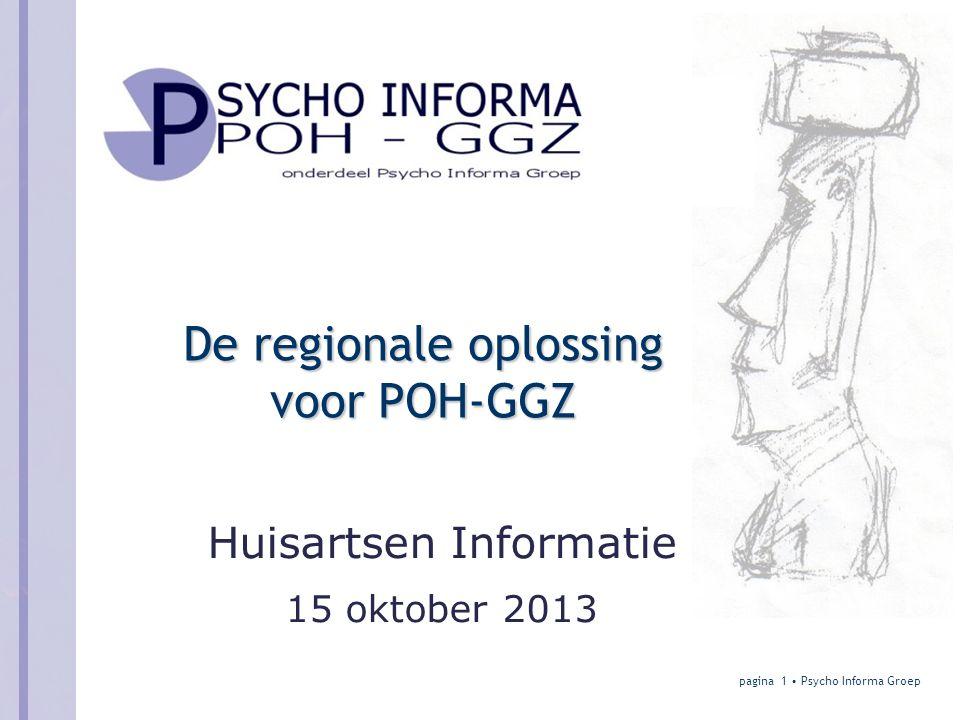 De regionale oplossing voor POH-GGZ