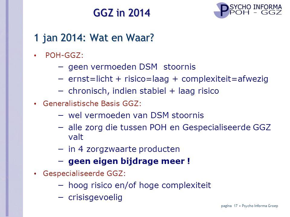1 jan 2014: Wat en Waar geen vermoeden DSM stoornis