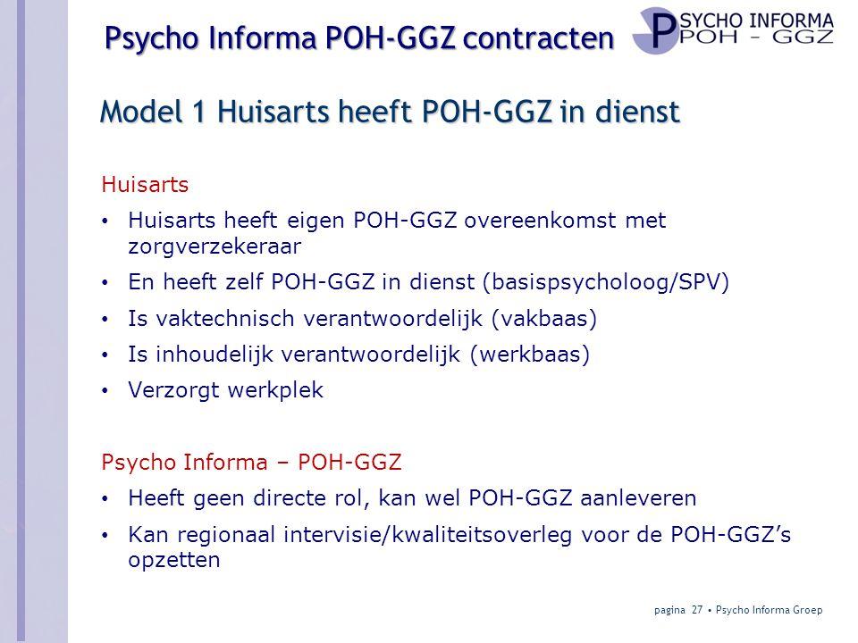 Model 1 Huisarts heeft POH-GGZ in dienst