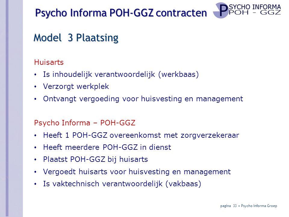Model 3 Plaatsing Huisarts Is inhoudelijk verantwoordelijk (werkbaas)