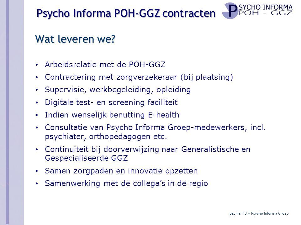 Wat leveren we Arbeidsrelatie met de POH-GGZ