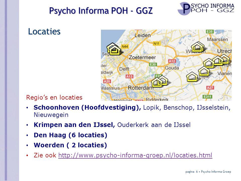 Locaties Regio's en locaties