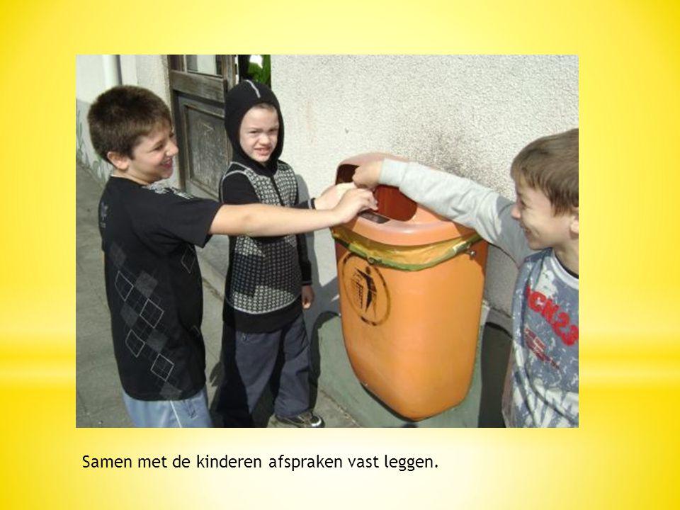Samen met de kinderen afspraken vast leggen.