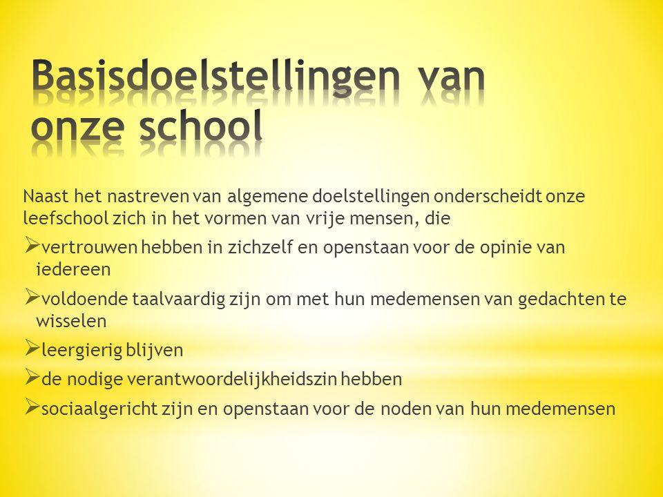 Basisdoelstellingen van onze school