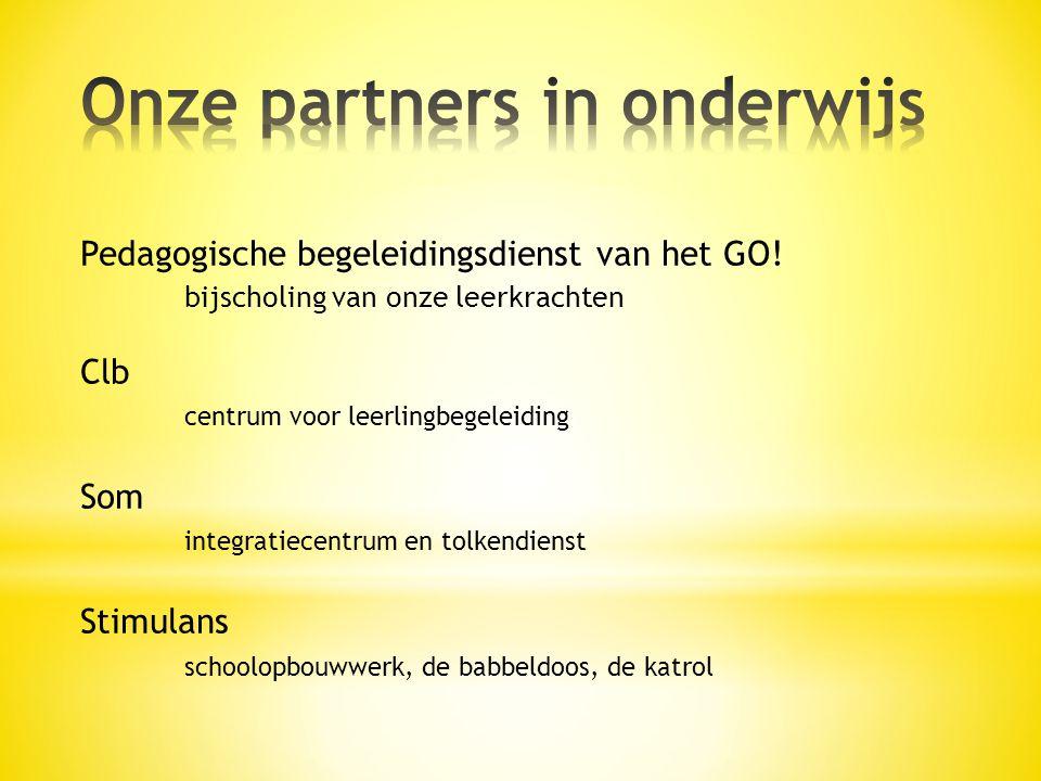 Onze partners in onderwijs
