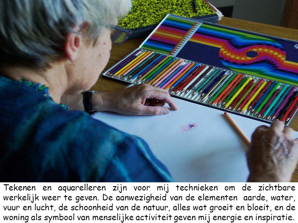 Tekenen en aquarelleren zijn voor mij technieken om de zichtbare werkelijk weer te geven.