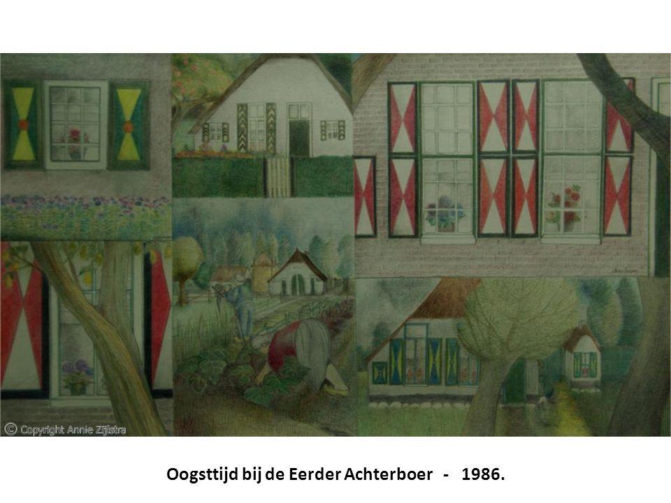 Oogsttijd bij de Eerder Achterboer - 1986.