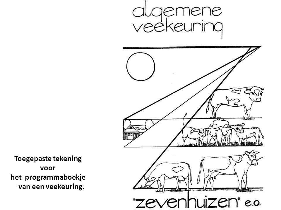 Toegepaste tekening voor het programmaboekje van een veekeuring.