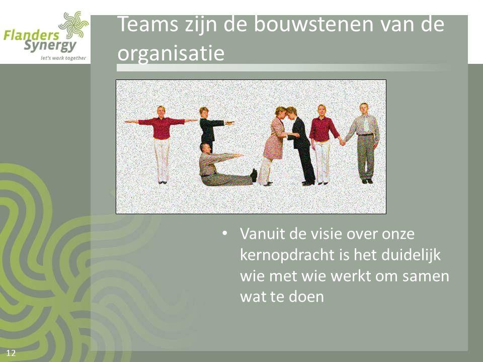 Teams zijn de bouwstenen van de organisatie
