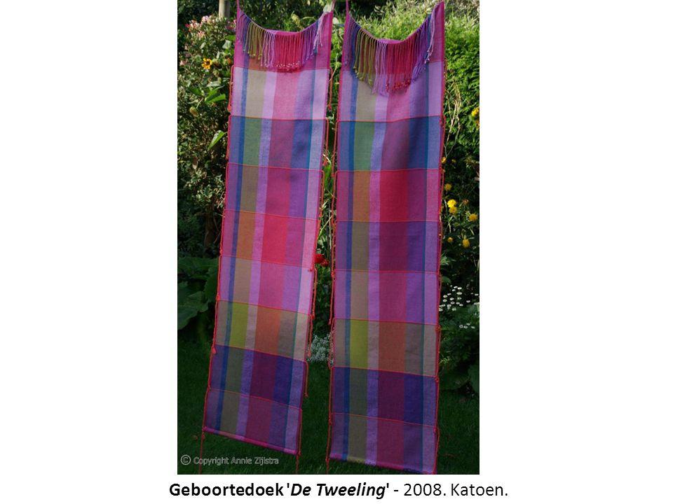 Geboortedoek De Tweeling - 2008. Katoen.