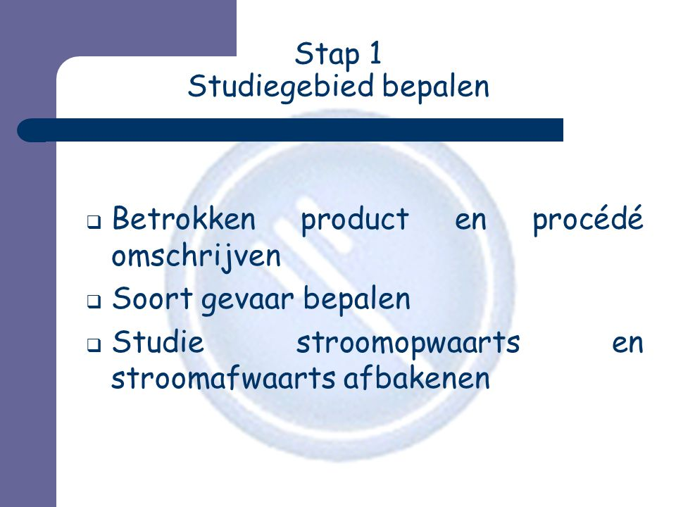 Stap 1 Studiegebied bepalen