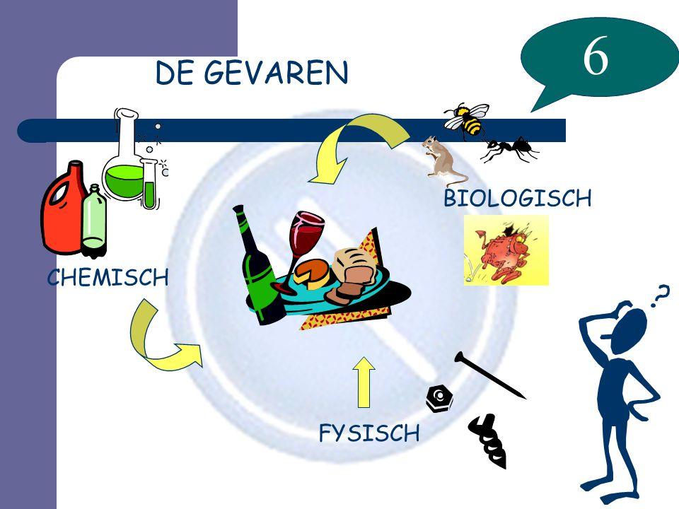 6 DE GEVAREN BIOLOGISCH CHEMISCH FYSISCH