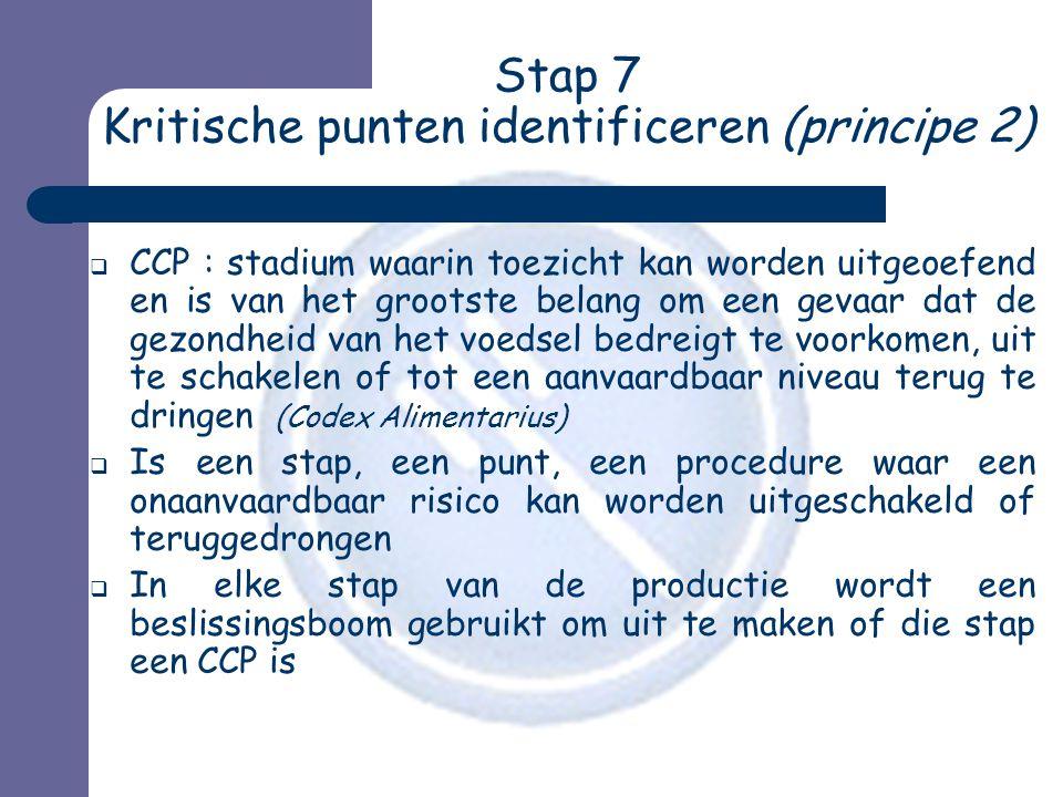 Stap 7 Kritische punten identificeren (principe 2)