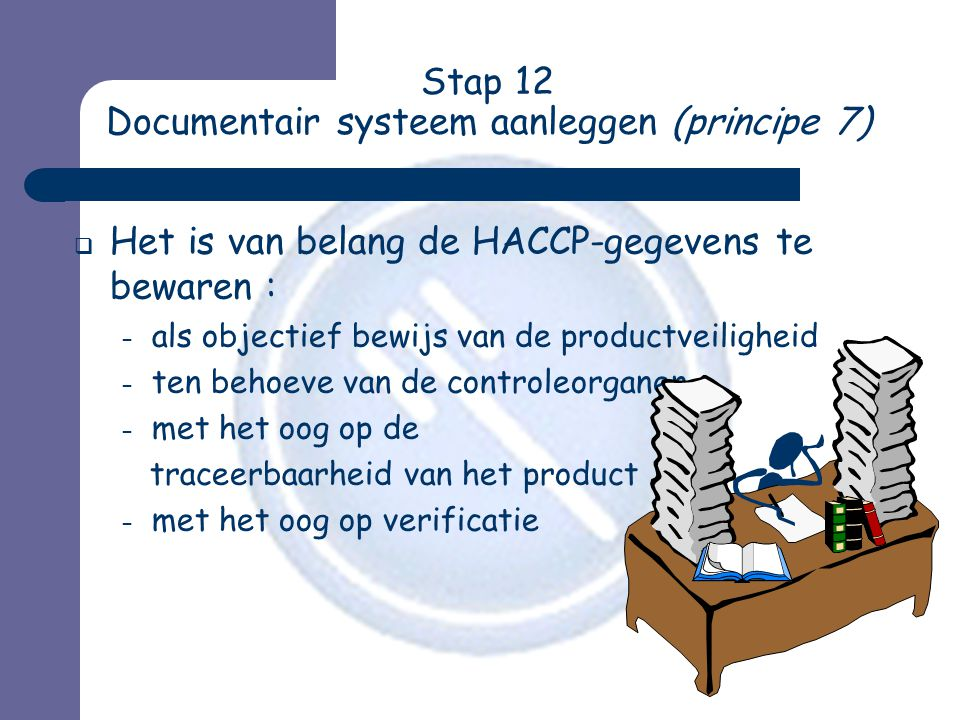 Stap 12 Documentair systeem aanleggen (principe 7)