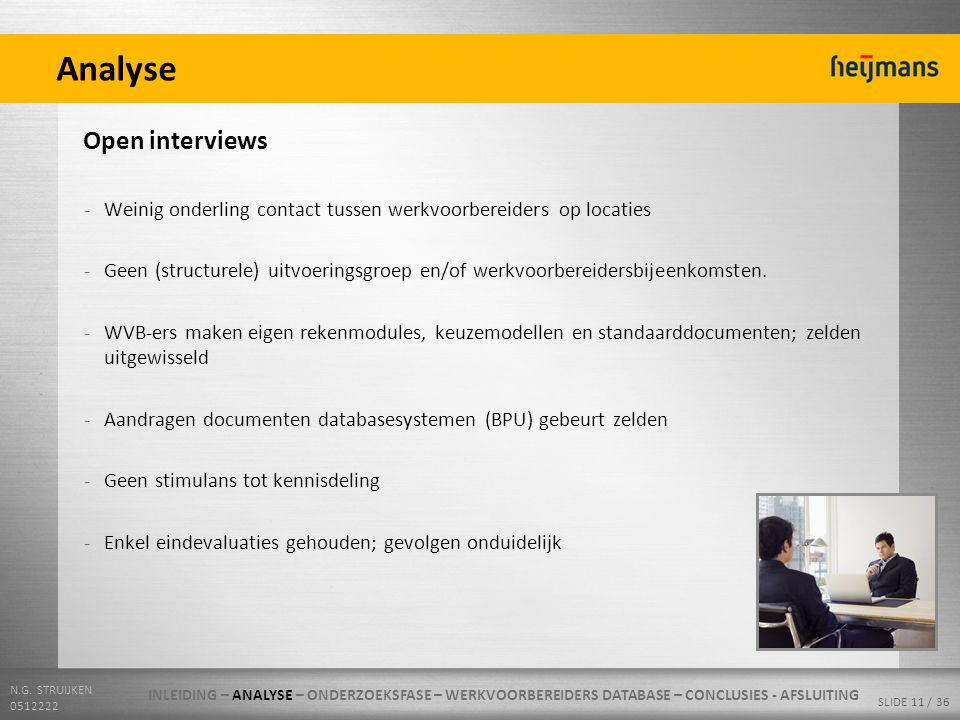 Analyse Open interviews
