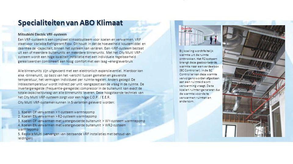 Specialiteiten van ABO Klimaat