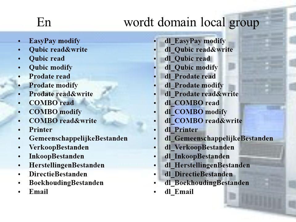 En wordt domain local group