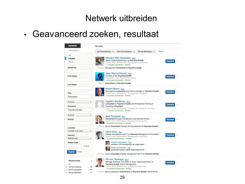Gebruik sociale media voor personal branding en om werk te zoeken ppt download - Geavanceerd zoeken ...