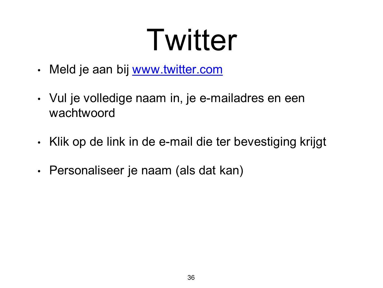 Twitter Meld je aan bij www.twitter.com